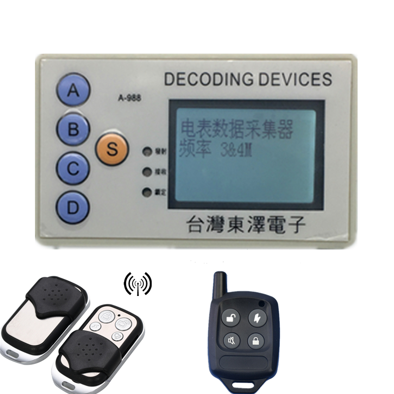 decoding devices RF Wireless Security Code Scanner Grabber 315 & 433 MHz Decode Many Chipset
